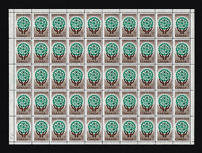 Canada — Full Pane of 50 — 1961, Resources for Tomorrow #395 — MNH