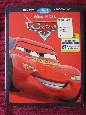 Cars Disney Pixar Blu-Ray Slipcover Only (No Movie) Free Shipping - Rare Htf Oop