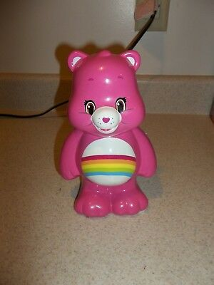 2015 Care Bears Rainbow Cheer Bear Bright Pink Ceramic Piggy Bank Coin Bank 535
