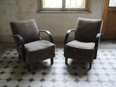 A pair Midcentury lounge chair by Jindrich Halabala