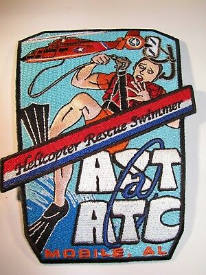 Vintage USCG Coast Guard Mobile AL AST ATC Helicopter Rescue Swimmer Patch 2-6A