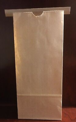 1/2 lb. Brown Kraft Paper Coffee Bags lot of 50 new TIN tie closure lined