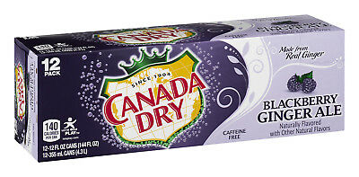 Canada Dry Blackberry Ginger Ale - brand new 12 pack of unopened cans