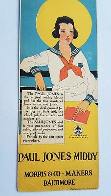 Gorgeous 1915 Middy Sailor Blouse Women Fashion Advertising Bookmark vtg flapper