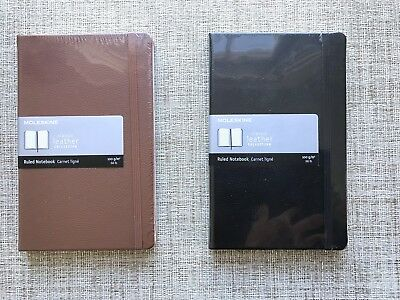 NEW -Moleskine LIMITED EDITION LEATHER NOTEBOOK - BROWN. Or BLACK