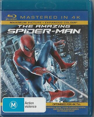 "The Amazing Spider-Man ""Blu ray mastered in 4K region B"" Brand New & Sealed"