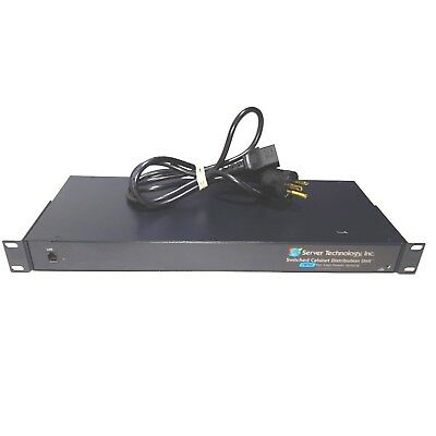 Server Tech Technology Switched CDU 1U 120V 16A 8-Outlets PDU CW-8H1A113