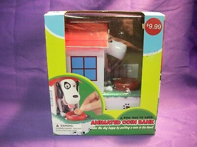 Animated Dog In Dog House Coin Bank Brand New In Box
