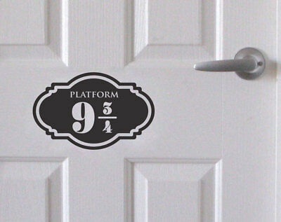 Platform 9 3/4  Sticker Harry Potter Decor Decal Wall Door