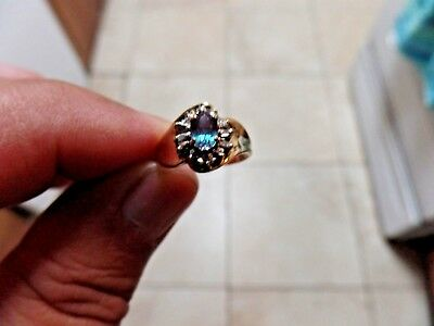 Alexandrite Gold Strong Color Change Natural Diamond Ring