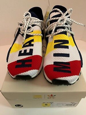 a41df46ebaa44 Adidas x Pharrell x BBC Human Race NMD BB9544 Size 8 Multi Color Heart Mind  DS