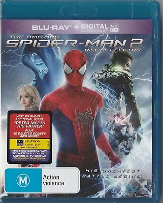 "The Amazing Spider-Man 2 rise of electro ""Blu ray region B"" Brand New & Sealed"