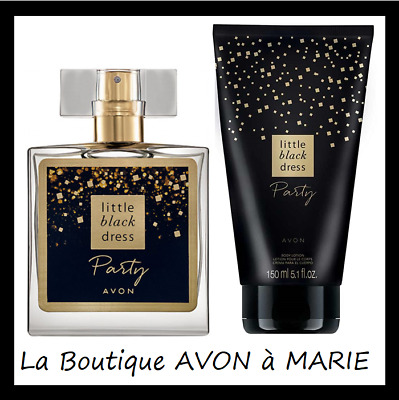 lot parfum + déo + crème hydratante little black dress avon