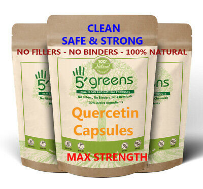 Quercetin 400mg Capsules 98% Extract - Strongest Best Value - Vegan Capsules -