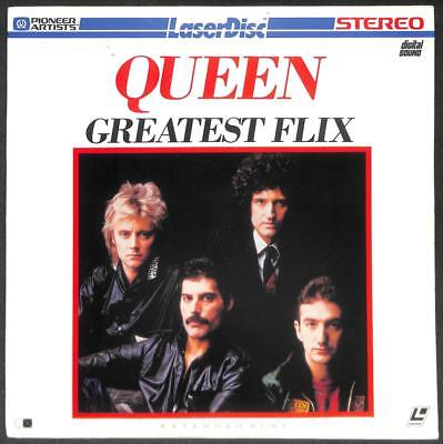 QUEEN Band Greatest Flix Freddie Mercury On Cover 1981 USA Laserdisc LD1574
