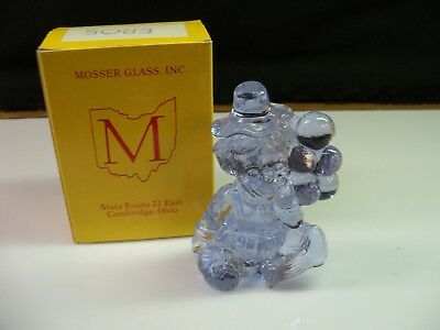 Eros Mosser Clown Collectible Figurine With Box - Very Light Blue Glass