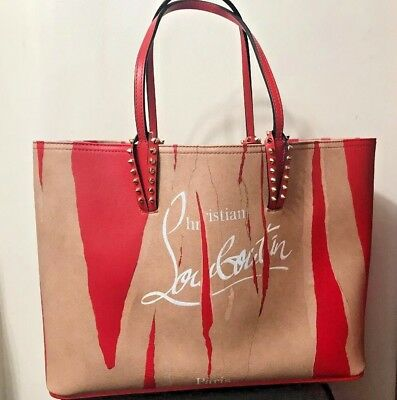 ec2efda1bb3 CHRISTIAN LOUBOUTIN CABATA Kraft Paris Tote Bag