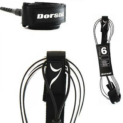 Dorsal Premium Surfboard Leash 6, 7, 8, 9, 10 FT Surf Rope - Clear 6 FT FCS Styl