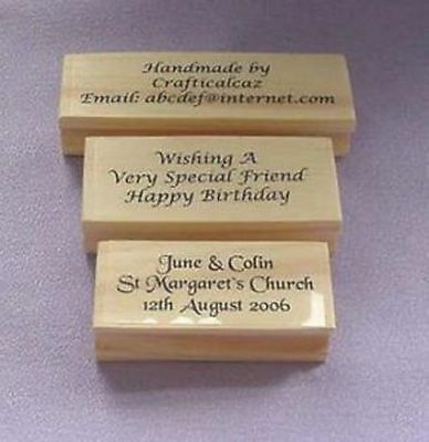 Personalised - Bespoke - 3 Line Polymer Stamp - Home - Office - Crafters
