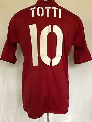 AS Roma Football Shirt Home 2004-05 Totti (Excellent) XL Soccer Jersey Top