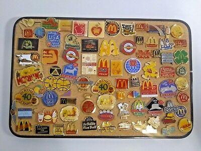 Vintage Lot of 80+ Collectible McDonald's Employees Pins Speedee Coca Cola Rare
