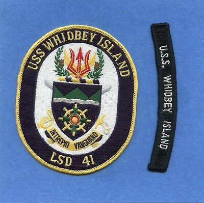 USS Whidbey Island LSD 41 Navy Jacket Patch with Shoulder Tab
