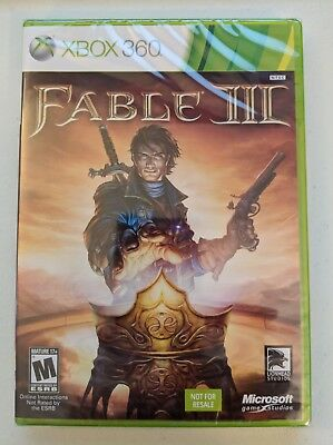 Fable III (Microsoft Xbox 360, 2010) Brand New Factory Sealed Not For Resale Ver