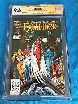 Excalibur 1988 #1 - Marvel - CGC SS 9.6 NM+ - Signed by Davis, Claremont