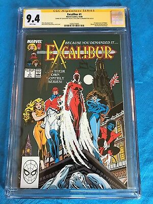 Excalibur 1988 #1 - Marvel - CGC SS 9.4 NM+ - Signed by Davis, Claremont
