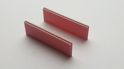 Two Zebra Strips (Elastomeric connectors) 49 x 15 x 2.7 mm (L x H x W)