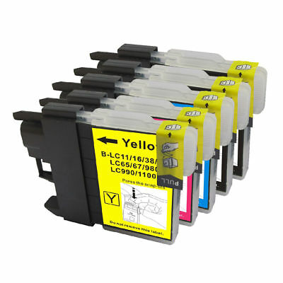5 Non-Oem Ink Brother Lc-61 Mfc-255Cw Mfc-290C Mfc-295Cn Mfc-490Cw Mfc-495Cw