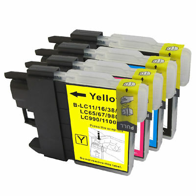 4 Non-Oem Ink Set Brother Lc-61 Mfc-255Cw Mfc-290C Mfc-295Cn Mfc-490Cw Mfc-495Cw