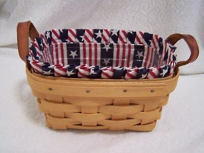 AA LONGABERGER ALL AMERICAN LINER ONLY for TEA BASKET mini chore  small key