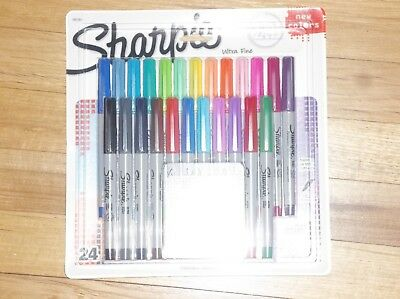 ULTRA FINE Sharpie Limited Edition 24-PK Electro Pop Color Tip Permanent Markers