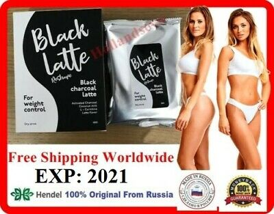Black Latte Dry Drink Charcoal Milk 100% Original Hendel's Garden Russia
