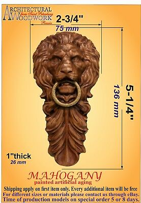 """Hand carved solid Hardwood Vertical Decor 5-3/8"""" x 2-3/4"""" x 1-1/8"""