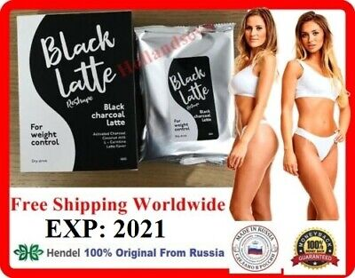 Black Latte Dry Drink Charcoal Milk 100% Original from Hendel's Garden Russia