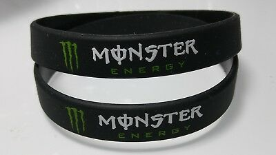 Lot Of 2  Monster Energy Call Of Duty COD Promo Black Silicon Braclets Wristband