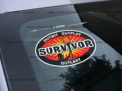 survivor sticker decal tv show *free shipping