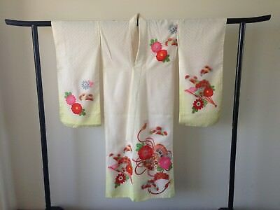 Festival Japanese Vintage Decorative Kimono Hand Made One of a Kind Costume