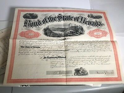 Nevada Comstock Gold Silver Mining 19thC Collection 1857 x445 Letters Stocks +++