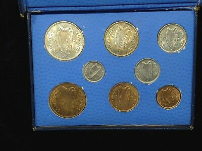 1928 COINS of IRELAND Uncirculated set. 1928 Farthing to Half Crown W/Box