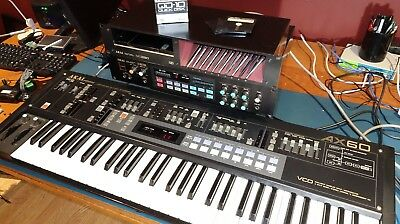 RARE Vintage Combo: Akai AX60 synthesizer with S612 Sampler+Disk Drive