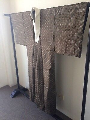 Men's Silk Japanese Vintage One of a Kind Costume Kimono Robe Old Kyoto