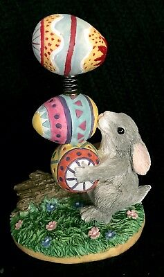 Charming Tails Binkies Bouquet... Bunny Balancing Easter Eggs LTD ED #2423/7500