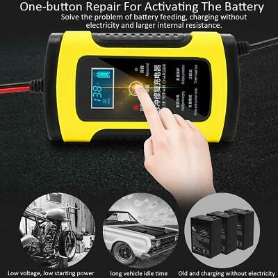 12V 6A Motorcycle Car Battery Charger Universal Repair Type Lead Acid Storage AU