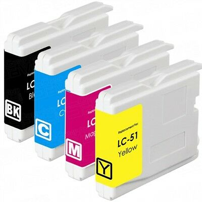 4 Non-Oem Ink Cartridge For Brother Lc-51 Mfc-240C Mfc-3360C Mfc-440Cn Mfc-465Cn