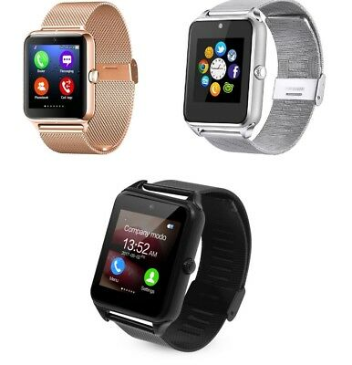 Metal Smart Bluetooth Watch GSM for Android, IOS Sleep Pedometer & Sedentary lot