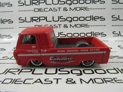 HOT WHEELS 1:64 LOOSE 1960's FORD ECONOLINE Pickup Diorama Car w/Real Riders