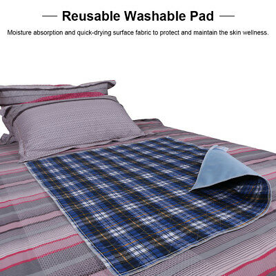 3X Washable Bed Pads Reusable Adult Incontinent Pad Waterproof Blue 45 * 60 USA